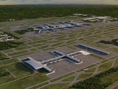 廣州白云機場模型