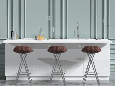 家具吧臺組合模型3d模型