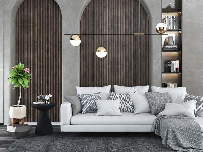 3d客廳沙發模型