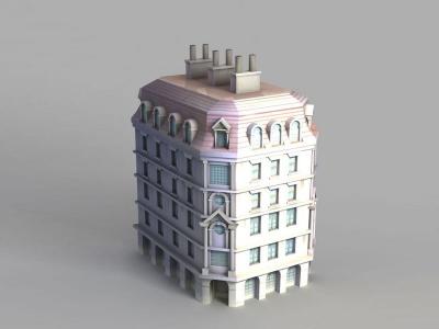 動漫城堡建筑模型3d模型