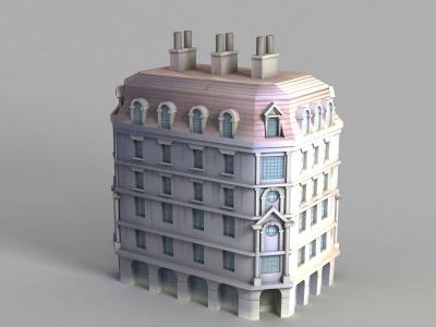 漫畫城堡模型3d模型