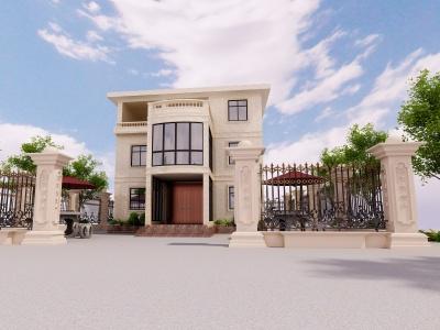 別墅外觀模型