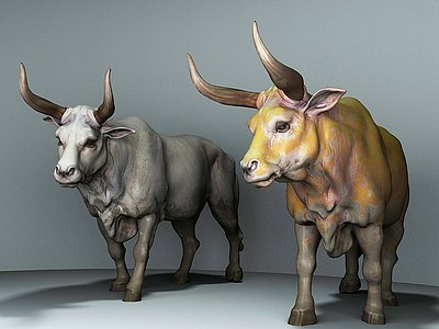 家畜牛模型3d模型