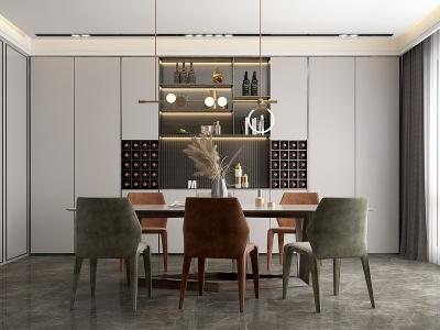 現代簡約餐廳模型3d模型