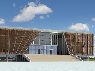 現代體育館3d模型