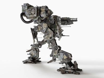 現代科幻機甲戰士模型3d模型
