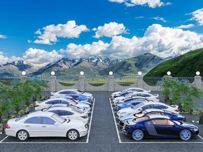 現代停車場模型