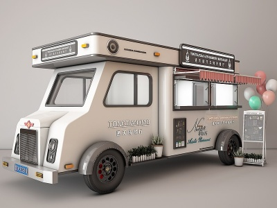 快餐車模型3d模型