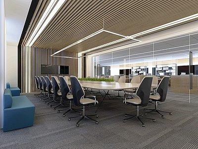 現代會議室模型3d模型
