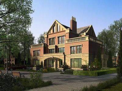 3d簡歐別墅外觀模型