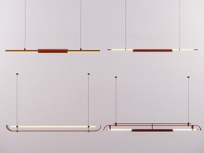 現代燈管模型3d模型