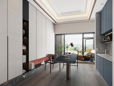 現代書房模型3d模型