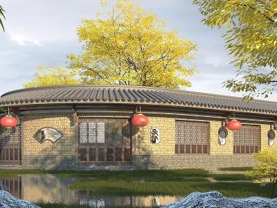 中式商鋪模型3d模型