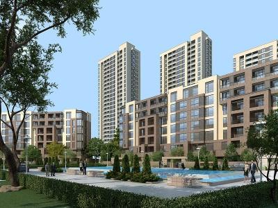 現代建筑外觀模型3d模型