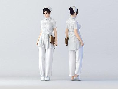 護士模型3d模型