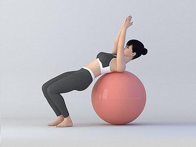 球體瑜伽模型3d模型