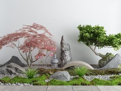 中式庭院景觀小品模型3d模型