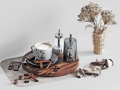 現代咖啡杯子廚房用品模型3d模型