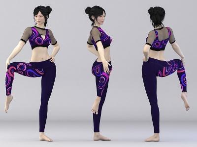 瑜伽人物模型3d模型