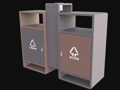 戶外垃圾桶模型