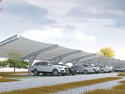 停車棚模型3d模型