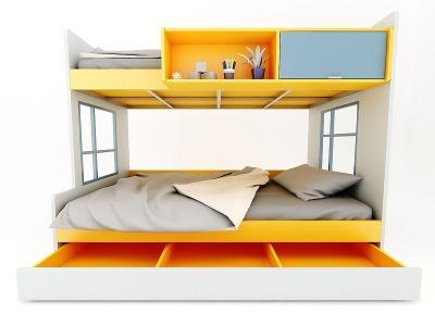 現代風格兒童床3d模型
