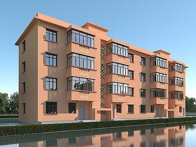 宿舍樓模型3d模型