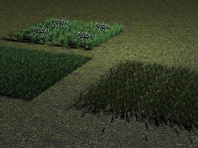 草地模型3d模型