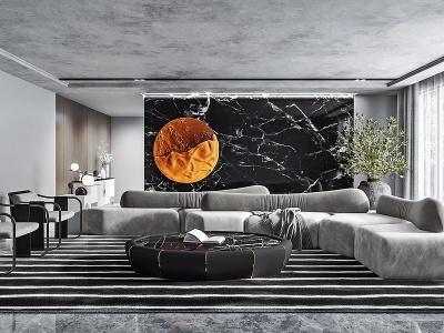 現代客廳會客廳模型3d模型