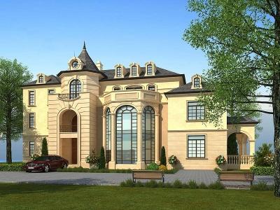 歐式別墅模型3d模型