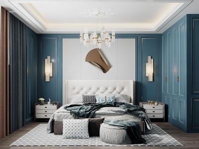 C4D現代臥室3d模型模型