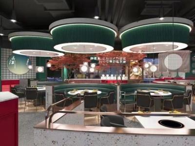 C4D現代火鍋烤魚卡座明檔模型模型