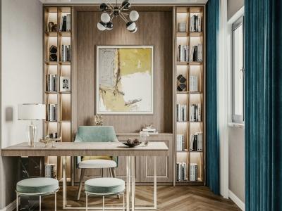現代輕奢書房模型3d模型