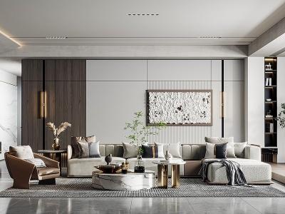 C4D3d現代客廳模型模型