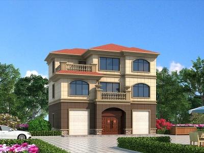 C4D簡歐別墅外觀模型