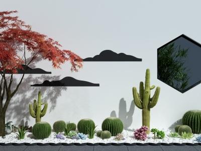 C4D現代仙人掌多肉植物景觀模型