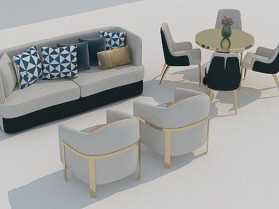 沙發桌椅模型3d模型