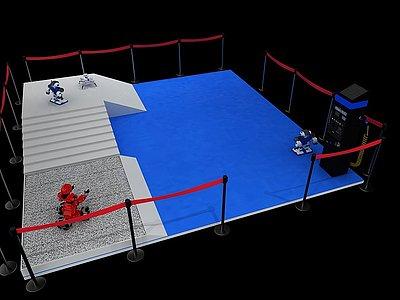 3d機器人展模型