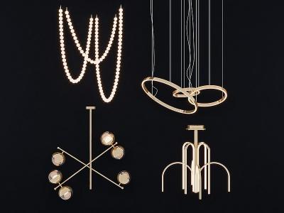現代輕奢吊燈模型3d模型