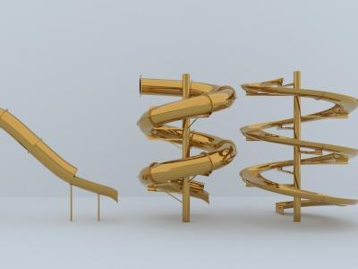 滑梯模型3d模型