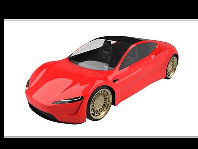 特斯拉電動汽車模型3d模型