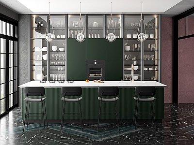 現代家裝樣板間餐廳模型3d模型