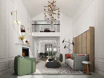 現代復式別墅模型3d模型