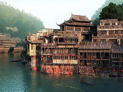 中式古建模型3d模型