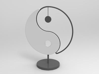 太極擺件模型3d模型