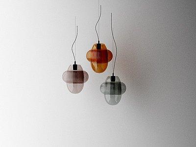 意大利siru現代玻璃吊燈模型3d模型