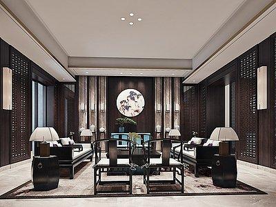 中式會客室模型3d模型
