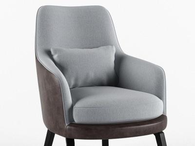現代單人沙發椅靠椅模型3d模型