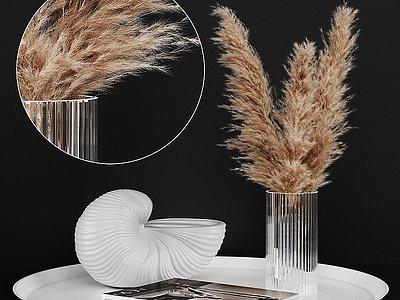現代花瓶花卉擺設模型3d模型