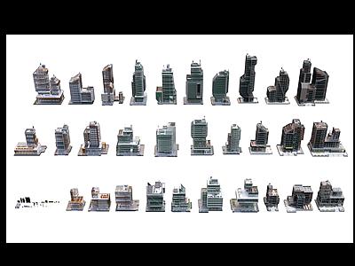 3d后現代<font class='myIsRed'>辦公樓</font>建筑模型